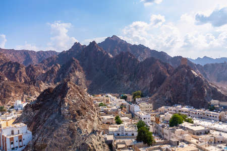 Panoramic view of the city Muscat capital of Oman from Fort Muttrah Stock fotó