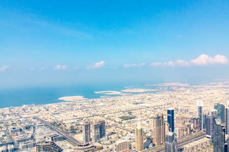 Fantastic view of Dubai from the tallest building in the world