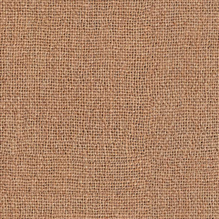 Burlap, natural fabric. Seamless square texture or background Stock Photo