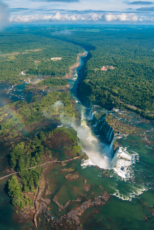 Iguazu falls in Argentina with clouds