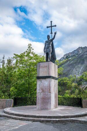Don Pelayo statue in Covadonga, Asturias