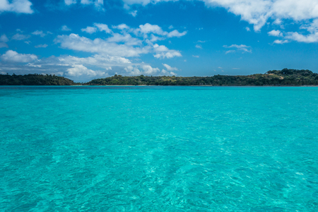 Crystal clear water in Nosy Iranja, Madagascar Stock Photo