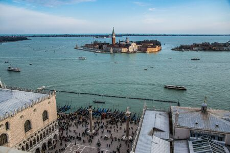 Carnival from top of San Marcos, Venice Banco de Imagens