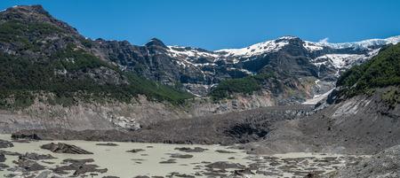 mount tronador: Ventisquero Negro glacier from Tronador volcano, Argentina Stock Photo