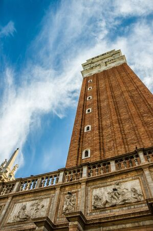Campanile di San Marco bell tower on San Marco Piazza, Venice, Italy, Europe