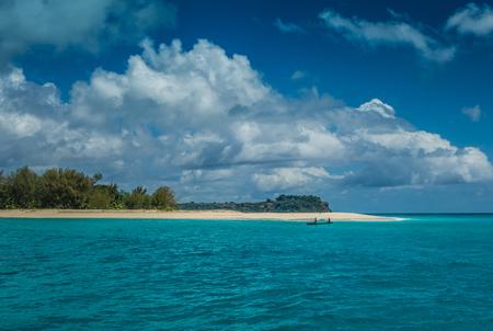 Crystal clear water in Nosy Iranja island, Madagascar