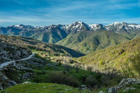ruta: Picos de Europa mountains and clouds, Asturias