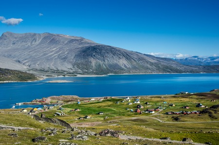 Igaliku small village in the summer, Greenland