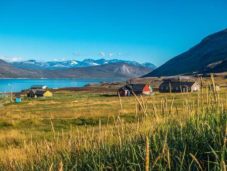 agrarian: Igaliku small village in the summer, Greenland