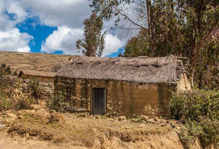 Old adobe house near Paucartambo, Peru