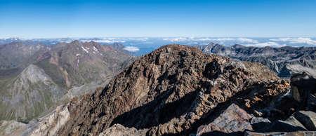 Pirineos mountain range view from Posets peak, Spain