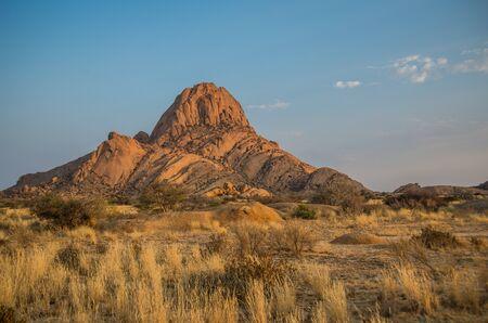 Sunrise in Spitzkoppe mountains, Damaraland in Namibia Stock Photo