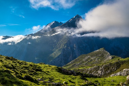Picos de Europa mountains and clouds, Asturias