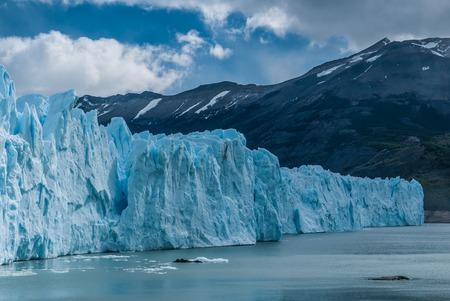 Perito Moreno glacier under the clouds in Calafate, Argentina Stock Photo