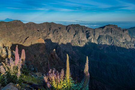 palma: View of Caldera Taburiente vocanic area in La Palma