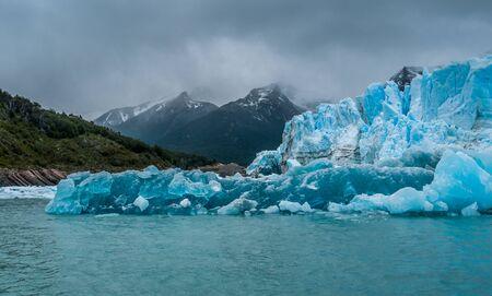 calafate: Blue ice detail in Perito Moreno glacier, Argentina