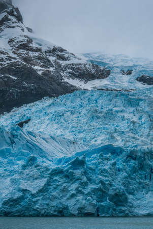 Ice detail from Spegazzini glacier in Calafate, Argentina