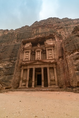 Al-Khazneh, The Treasury temple in Petra, Jordan Stock Photo