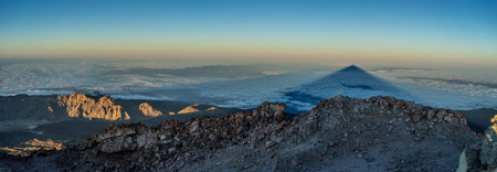 Shadow of the Teide volcano from the summit, Canary Islands