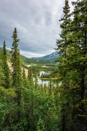 Horseshoe lake view in Denali national park, Alaska Stock Photo