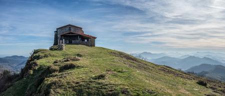 Hermitage in Kolitza mount in Balmaseda, Basque Country, Spain 21:9