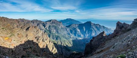 View of Caldera Taburiente vocanic area in La Palma, Canary Islands Stock Photo