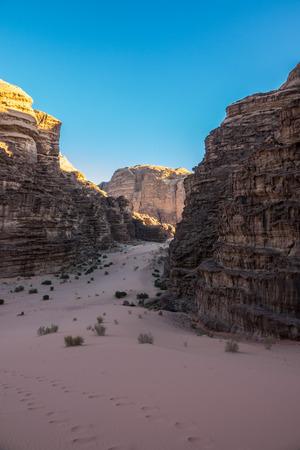 Lawrence of Arabia campsite entry in Wadi Rum desert, Jordan Reklamní fotografie