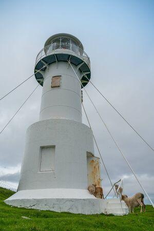 The lighthouse on Mykines island, Faroe Islands