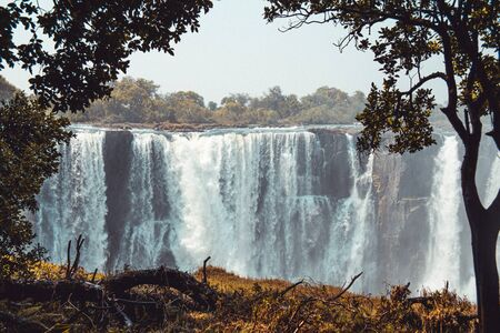 Victoria falls in a sunny day, Zimbabwe