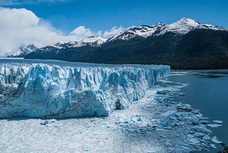 Detail of Perito Moreno glacier in Argentina, South America Standard-Bild