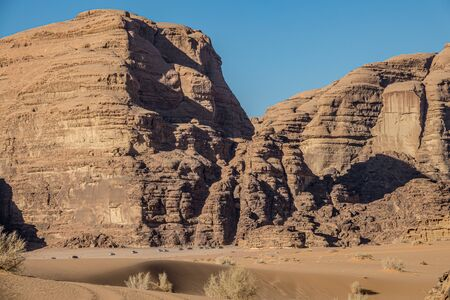 Lawrence of Arabia valley in Wadi Rum desert, Jordan