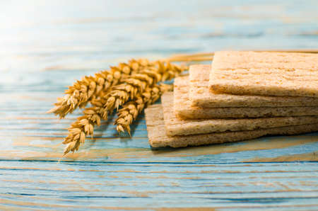 Dietary bread made from cereals for a healthy breakfast meal