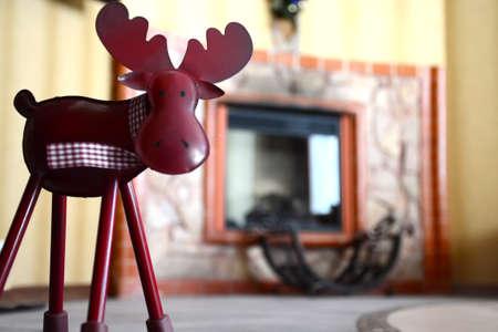 animal figurines: Deer closeup statuette