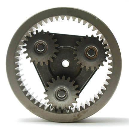 planetary gears on white background