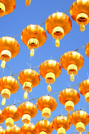 singapore culture: gold chinese lanterns