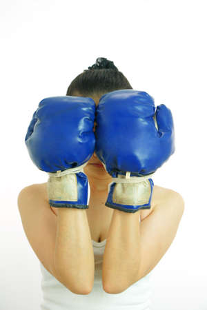 Boxing woman                        Stock Photo - 11563175