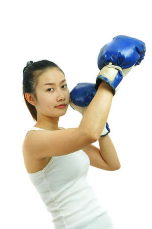 Boxing woman                photo