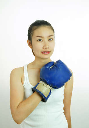 Boxing woman Stock Photo - 11563181