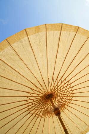 Detail of umbrella with Thai ornament                   photo
