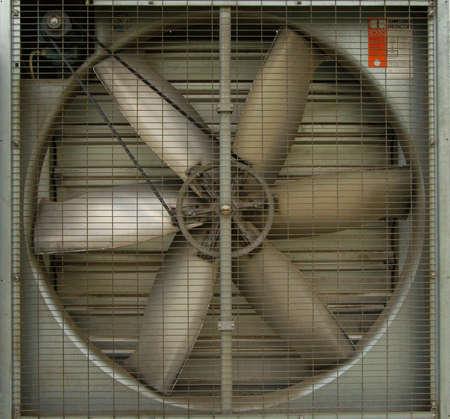 A turbine behind silver bars Standard-Bild