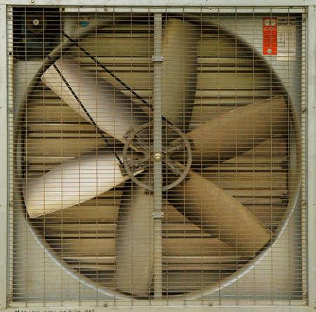 A turbine behind silver bars         photo