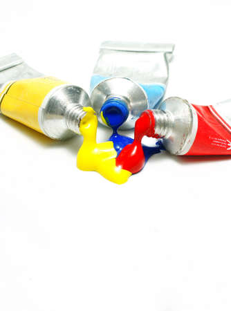 distemper:  Tube of watercolor                   Stock Photo