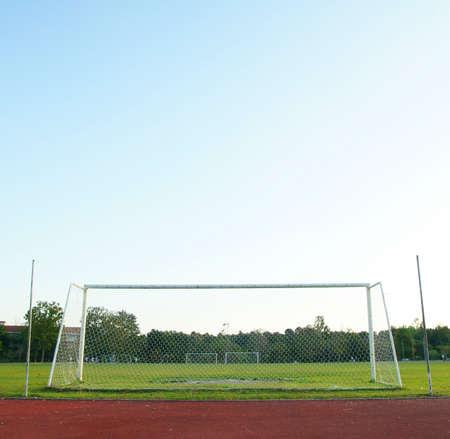 goalline: Old soccer goal
