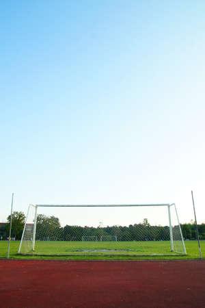 goalpost: Old soccer goal                    Editorial