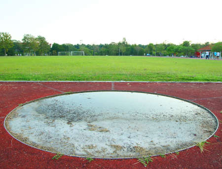 Area for javelin and hammer throwing on the athletics field.