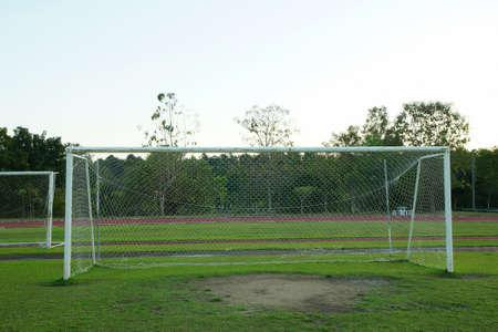 goalpost:  Old soccer goal