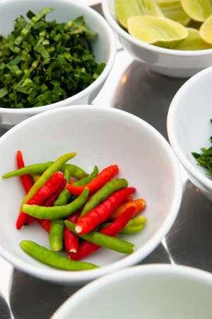 sour grass: asian hot and spicy food ingredient with onions in bowl