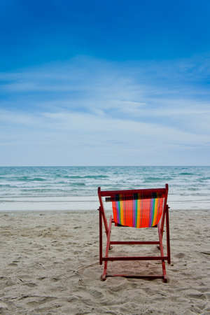 beach chair on the beach photo