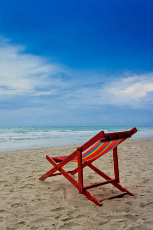 beach chair on the beach Stock Photo - 14453354