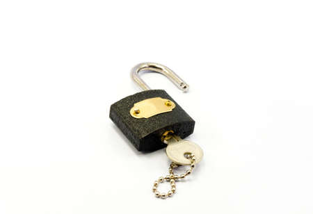 Padlock with key Stock Photo - 17976949
